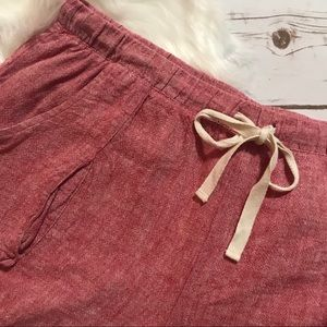 Anthropologie Shorts - Anthropologie Mermaid Linen casual Shorts Size L